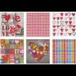 """Набор салфеток для декупажа """"Романтика"""" 12шт. 33х33 см """"Love2art"""""""