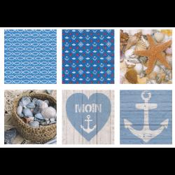 "Набор салфеток для декупажа ""На морском побережье"" 12шт. 33х33 см ""Love2art"""
