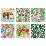"Набор салфеток для декупажа ""Тропический сад"" 12шт. 33х33 см ""Love2art"""