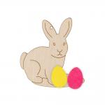 """Заготовка для декорирования """"Пасхальный кролик"""" фанера с фетром 7,5x7см """"Mr. Carving"""""""