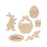 """Заготовка для декорирования """"Набор Кролик"""" фанера 3x5см """"Mr. Carving"""""""