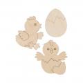"""Заготовка для декорирования """"Набор Цыплята"""" фанера 6,5x8см """"Mr. Carving"""""""