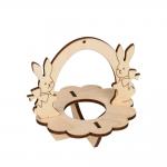 """Заготовка для декорирования """"Подставка под яйцо Кролики"""" фанера 10x8,5см """"Mr. Carving"""""""