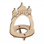 "Заготовка для декорирования ""Подставка под яйцо Храм"" фанера 12x7,5см ""Mr. Carving"""