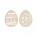 """Заготовка для декорирования """"Набор Пасхальные яйца 1"""" фанера 7x5,5см """"Mr. Carving"""""""