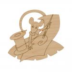 """Заготовка для декорирования Подвеска """"Крыса рукодельница"""" фанера 9x10см """"Mr. Carving"""""""