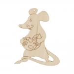 """Заготовка для декорирования Подвеска """"Крыса с сыром"""" фанера 9x7см """"Mr. Carving"""""""