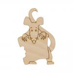 """Заготовка для декорирования Подвеска """"Крыса с хлебом"""" фанера 9x6см """"Mr. Carving"""""""