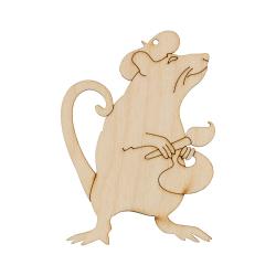 """Заготовка для декорирования Подвеска """"Крыса художник"""" фанера 9x6,5см """"Mr. Carving"""""""
