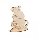 """Заготовка для декорирования """"Крыса на подставке"""" фанера 12x9,3см """"Mr. Carving"""""""
