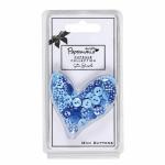 """Мини пуговицы для декорирования голубые в горошек 60шт """"DoCrafts"""" (Великобритания)"""