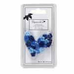 """Мини пуговицы для декорирования голубые «Цветок» 30шт """"DoCrafts"""" (Великобритания)"""