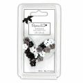 """Мини пуговицы для декорирования черно-серо-белые «Цветок» 30шт """"DoCrafts"""" (Великобритания)"""