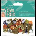 """Набор пуговиц и декоративных элементов """"Owl folk"""" 32шт """"DoCrafts"""" (Великобритания)"""