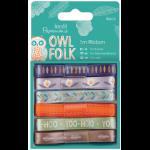 """Набор лент для декорирования """"Owl folk"""" 6шт.х 1м """"DoCrafts"""" (Великобритания)"""