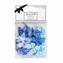 """Бантики для декорирования голубые 20шт """"DoCrafts"""" (Великобритания)"""