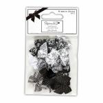 """Бантики для декорирования черно-серо-белые 20шт """"DoCrafts"""" (Великобритания)"""