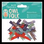 """Бантики для декорирования большие """"Owl folk"""" 12шт """"DoCrafts"""" (Великобритания)"""