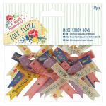 """Бантики для декорирования большие """"Folk floral"""" 12шт """"DoCrafts"""" (Великобритания)"""