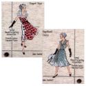 "Набор для вышивания ""Парад модниц. 1950-е"" ""Design Works Crafts"" (США)"