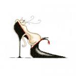 """Набор для вышивания """"Кошка на туфельке в горошек"""" """"Design Works Crafts"""" (США)"""