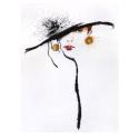 """Набор для вышивания """"Элегантность в черной шляпе"""" """"Design Works Crafts"""" (США)"""