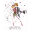 """Набор для вышивания """"Жених и невеста"""" """"Design Works Crafts"""" (США)"""