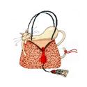 """Набор для вышивания """"Кошка на леопардовой сумочке"""" """"Design Works Crafts"""" (США)"""