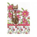 """Набор для вышивания """"Кот среди розовых цветов"""" """"Design Works Crafts"""" (США)"""