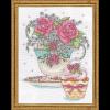 """Набор для вышивания """"Розы в чайной чашке"""" """"Design Works Crafts"""" (США)"""