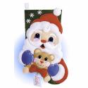 """Набор для создания сапожка из фетра """"Санта и медвежонок"""" """"Design Works Crafts"""" (США)"""
