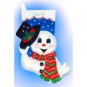 """Набор для создания сапожка из фетра """"Снеговик со шляпой"""" """"Design Works Crafts"""" (США)"""
