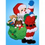 """Набор для создания панно из фетра """"Санта с друзьями"""" """"Design Works Crafts"""" (США)"""