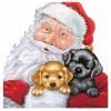 """Набор для вышивания """"Санта со щенками"""" """"Design Works Crafts"""" (США)"""