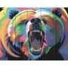 """Набор для раскрашивания по дереву """"Медведь в стиле поп-арт"""" 50х40см """"Фрея"""""""