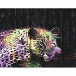 """Набор для раскрашивания по дереву """"Леопард в стиле поп-арт"""" 50х40см """"Фрея"""""""
