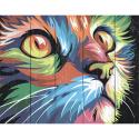 """Набор для раскрашивания по дереву """"Котёнок в стиле поп-арт"""" 50х40см """"Фрея"""""""