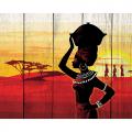 """Набор для раскрашивания по дереву """"Африканский пейзаж"""" 50х40см """"Фрея"""""""