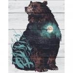 """Набор для раскрашивания по дереву """"Медведь"""" 50х40см """"Фрея"""""""