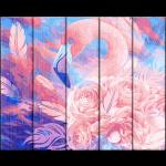 """Набор для раскрашивания по дереву """"Розовый фламинго"""" 50х40см """"Фрея"""""""