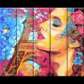 """Набор для раскрашивания по дереву """"Мечты о Франции"""" 50х40см """"Фрея"""""""