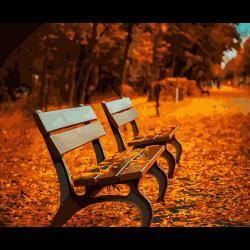 "Набор для раскрашивания ""Осенний парк"" 50х40см ""Фрея"""