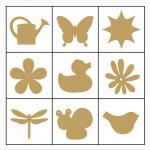"""Набор декоративных элементов в коробочке """"Цветы и животные"""" 45шт """"Knorr Prandell"""" (Германия)"""