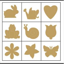 """Набор декоративных элементов в коробочке """"Цветы и животные 2"""" 45шт """"Knorr Prandell"""" (Германия)"""