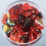"Набор бусин Сердечки красный микс 15гр ""Knorr prandell"" (Германия)"