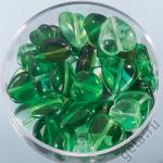"Набор бусин Сердечки зелёный микс 15гр ""Knorr prandell"" (Германия)"