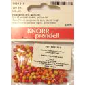 """Бусины деревянные d=4мм 165шт жёлто-красный микс """"Knorr prandell"""" (Германия)"""