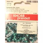 """Бусины деревянные d=4мм 165шт бирюзовый микс """"Knorr prandell"""" (Германия)"""