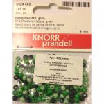 """Бусины деревянные d=4мм 165шт зелёный микс """"Knorr prandell"""" (Германия)"""