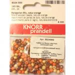 """Бусины деревянные d=4мм 165шт натуральный/оранжевый микс """"Knorr prandell"""" (Германия)"""